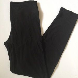Solid Black Lularoe Leggings One Size